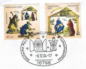 Briefmarke mit Sonderstempel aus Himmelpfort