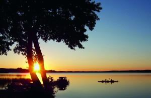 Campingplatz Himmelpfort mit traumhaften Sonnenuntergängen